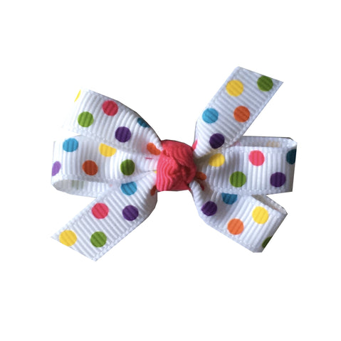 "Fun Confetti Dot Small 2"" Pinwheel Hair Bow"