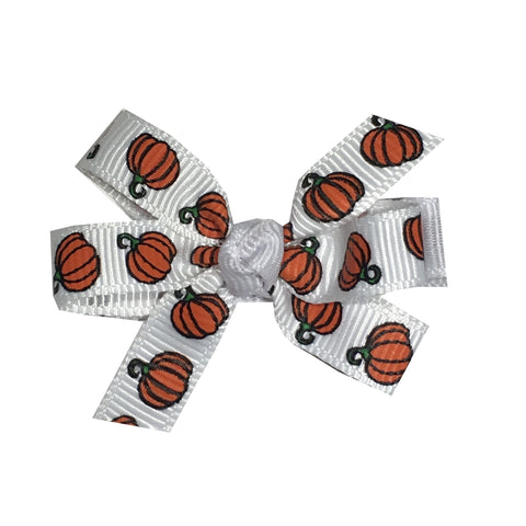 "Pumpkin Small 2"" Pinwheel Hair Bow"