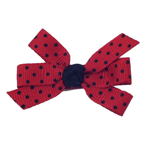 "Colored Polka Dots - Small 2"" Pinwheel Bows (7 Color Choices)"