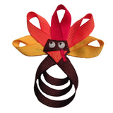 Turkey Hair Clip or Lapel Pin - Pick Solid Color or Dot Feathers