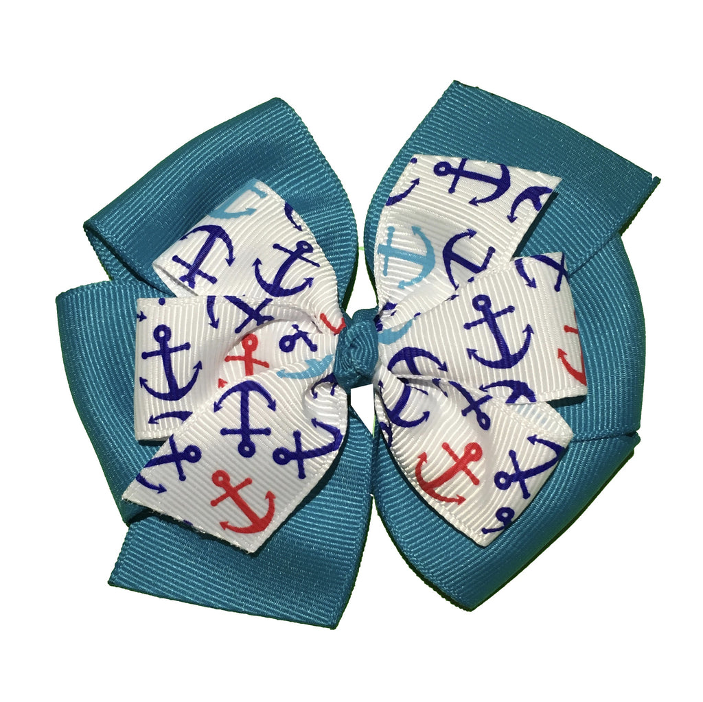 Anchor Large Layered Pinwheel Bows - Choose Your Colors - Wholesale - Fundraising
