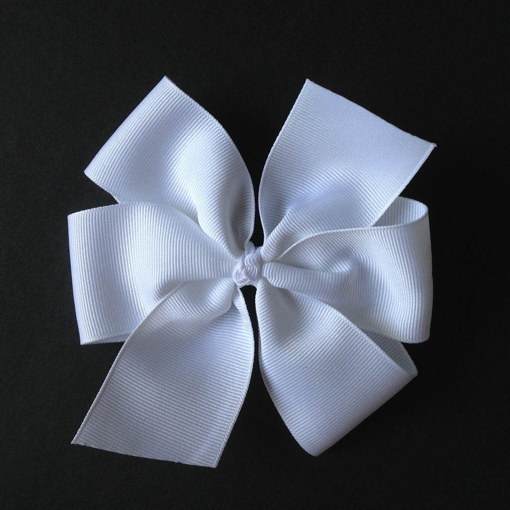 "Solid Color 5"" Pinwheel Bow - 35 Color Choices"