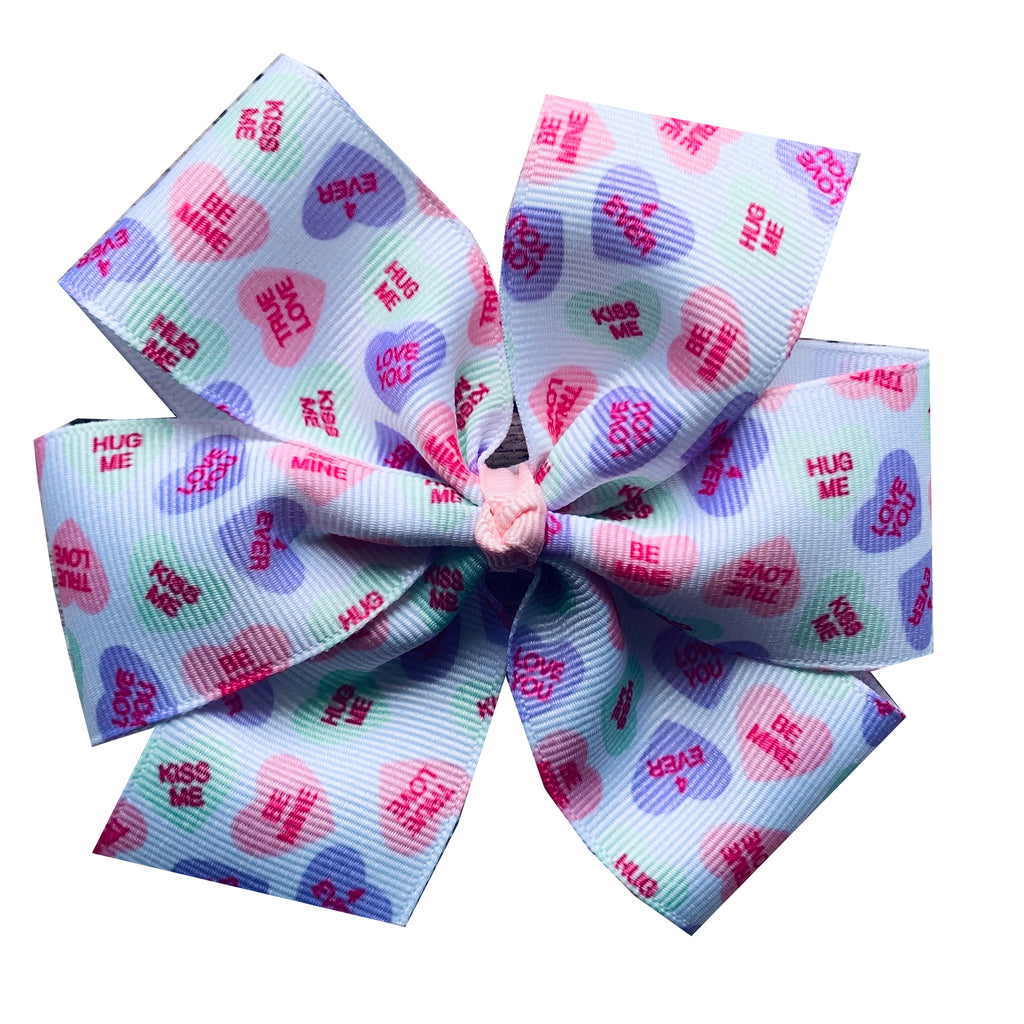 Extra Large Conversation Heart Hair Bow