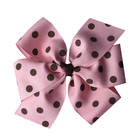 Extra Large Pinwheel Bows with Colored Polka Dots - 11 choices