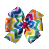 Neon Chevron Summer Hair Bow - 3 sizes