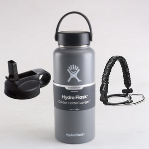 Hydro Flask with Flex Cap And Straw Lid 32 oz (Fast Shipping To USA)
