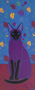 Big Talker Siamese Cat Art Print - MATTED Print by Angela Bond Art