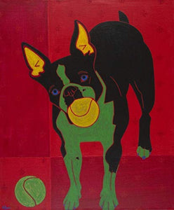 Boston Bliss Art Print - Colorful Boston Terrier Print - Dog Pop Art Print - by Angela Bond