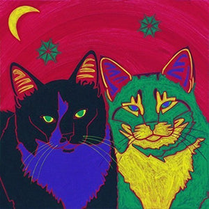 Cat Art - Cat Art Print - Cat Pop Art by Angela Bond