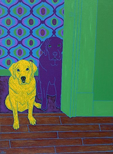 Labrador Art Print - Some of My Fav People Matted Print by Angela Bond Art