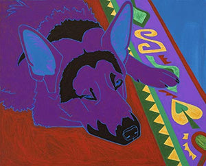 German Shepherd Art - Matisse Inspired - Dog Pop Art by Angela Bond