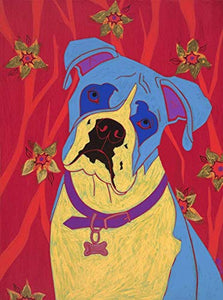 Boxer Art Print - Dog Pop Art - Standard Sized MATTED Print by Angela Bond