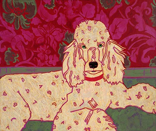 Classy Canine -Poodle Dog Art - Dog Pop Art MATTED Print by Angela Bond