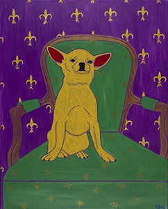 "Chihuahua Art Print - Dog Pop Art - pop art Chihuahua - 11"" X 14"" MAT - by Angela Bond"