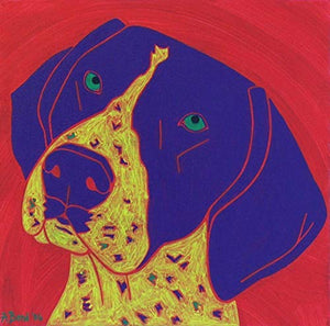 German Shorthair Pointer Art - Dog Pop Art - Enthusiastic Companion - MATTED Print by Angela Bond