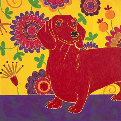Dachshund Art Print - Pop Art Dachshund - Wonderful Wiener Dog by Angela Bond