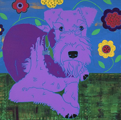 Airedale Art Print - Modern Dog Art - Colorful Dog Art by Angela Bond