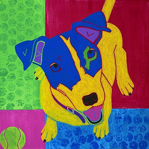 Jack Russell Art - Jack Russell Pop Art - Colorful Dog Art Print by Angela Bond
