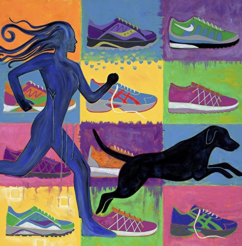 Dog Pop Art - Pop Art Running Shoes by Angela Bond