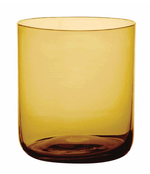 Glass Tumbler set of 4 - Amber