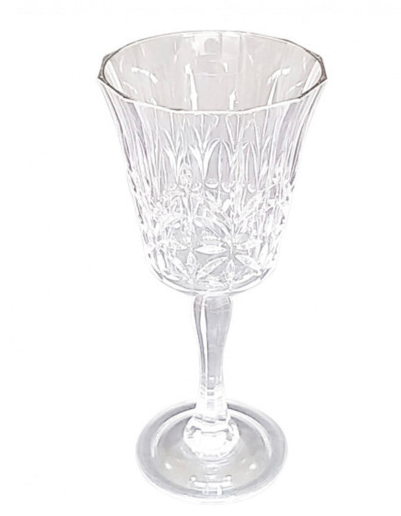 Scalloped Acrylic Wine glass - Clear