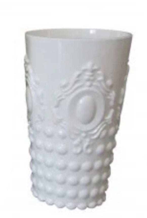 Gemstone Acrylic Tall Tumbler - White