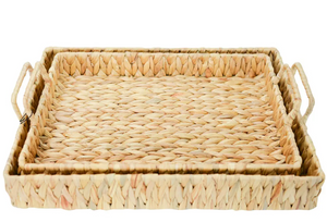 Picnic tray set water hyacinth