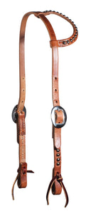 Professional's Choice Flat Ear Headstall - Spots