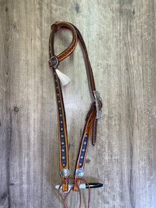 "Rafter S. ""Cowboy's Prayer"" One Ear Headstall"