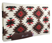 Load image into Gallery viewer, Professional's Choice Contoured 100% Wool Navajo Saddle Blanket with Wear Leathers