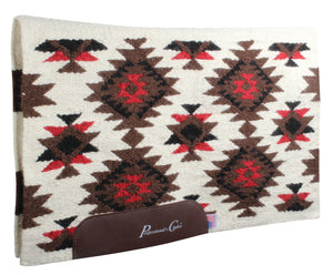 Professional's Choice Contoured 100% Wool Navajo Saddle Blanket with Wear Leathers