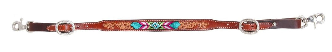 Rafter T Wither Strap with Beaded Inlay