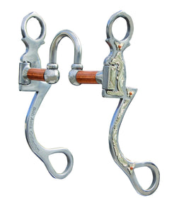 The four moving parts allow the horse to respond to subtle rein pressure which greatly reduces heavy rein handling. Copper bars keep the horses mouth moist. This bit can be used in any western discipline. Port: 2""