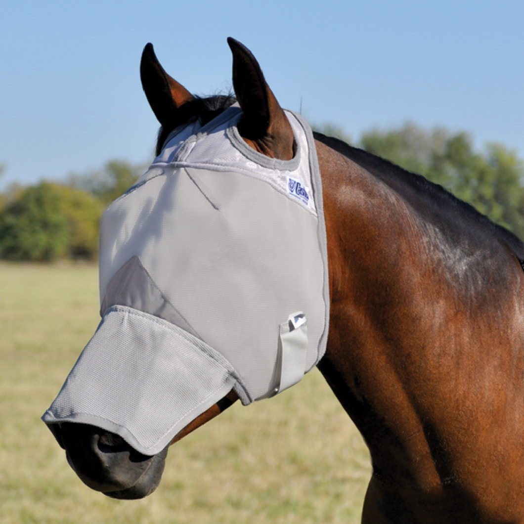 Crusader Horse Fly Mask, Long Nose