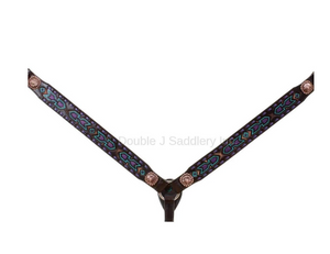 Double J Brown Vintage Breast Collar BC905