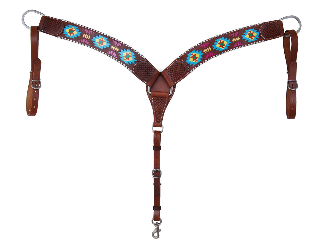 Rafter T Breastcollar - Painted Aztec