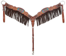 Load image into Gallery viewer, Rafter T Breastcollar - Beaded Inlay