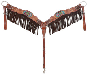 Rafter T Breastcollar - Beaded Inlay