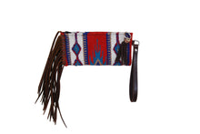 Load image into Gallery viewer, Rafter T Woolen Wristlet - Brown Fringe