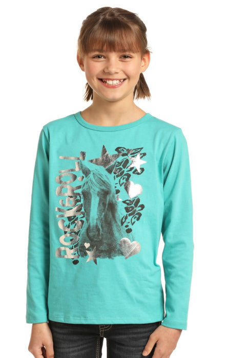 Metallic Horse Graphic T-Shirt