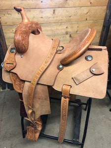 "Leanin' Pole 14"" Barrel Saddle"