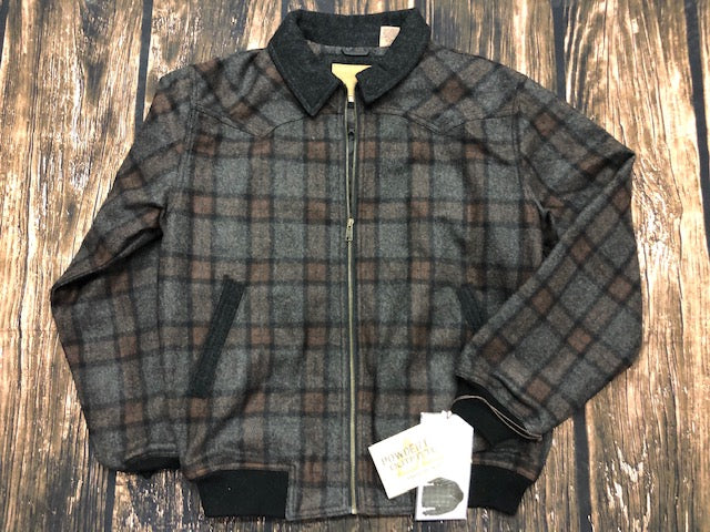 Men's Plaid Bomber Coat