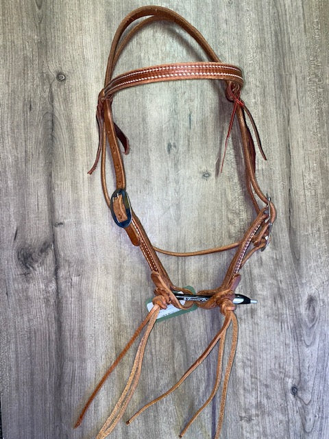 Berlin Browband Headstall with Rattlesnake Ends - Silver Buckle