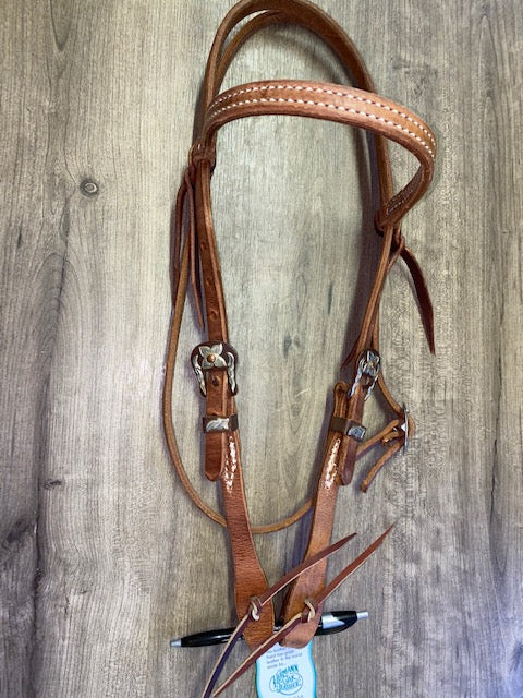 Berlin Browband Headstall Brown Iron Buckle