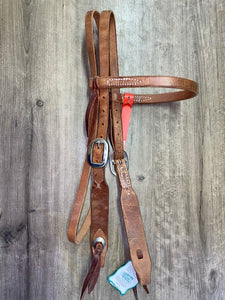"Berlin 3/4"" Browband Headstall - Silver Buckle"