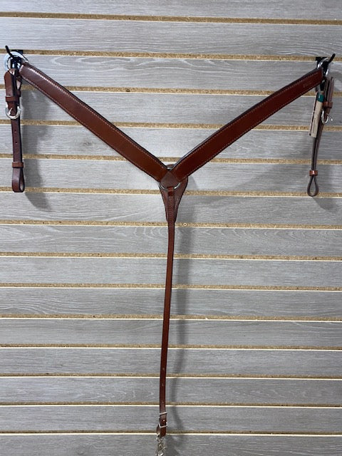 Double J Brown Leather Breastcollar