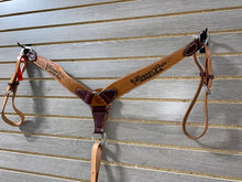 Load image into Gallery viewer, Leanin' Pole Arena Logo Stamped Breastcollar by HR