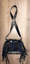 Load image into Gallery viewer, Grey Pendleton Crossbody Purse with Fringe by Hailey Drent
