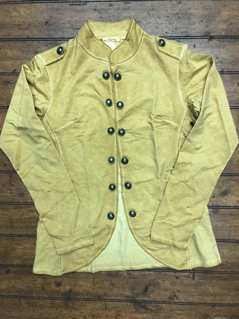 Military Style Fashion Coat - Gold