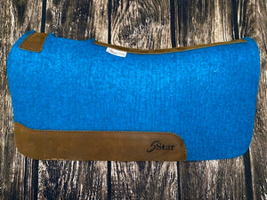 5 Star Saddle Pad - Turquoise with Plain Wear Leathers (Multiple Sizes Available)